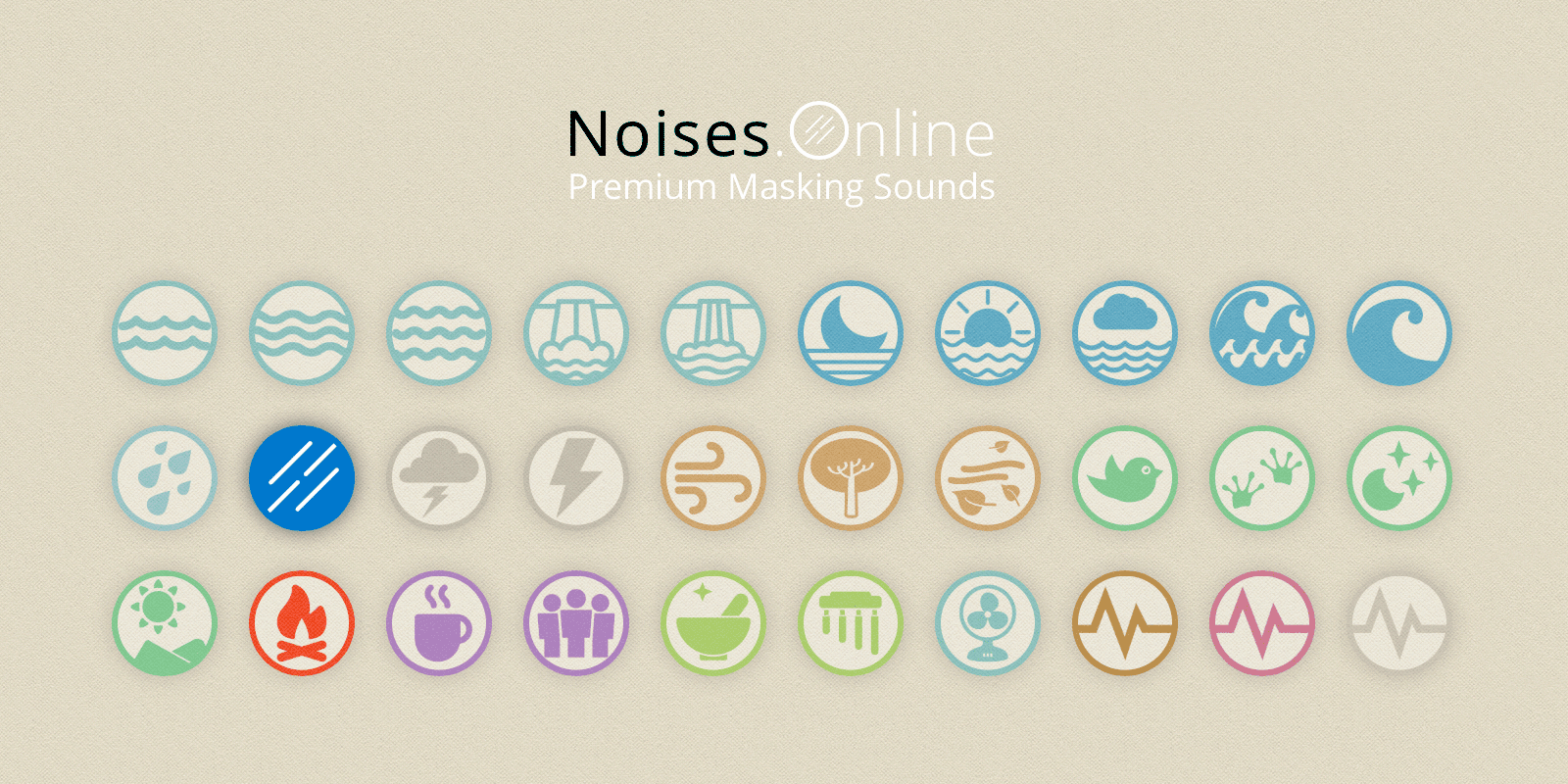 online background noises relaxing sounds noise masking